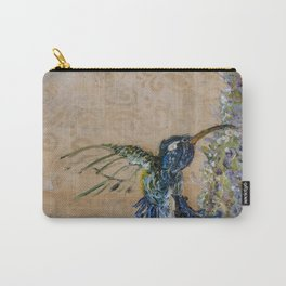 Yellow Hummingbird Carry-All Pouch