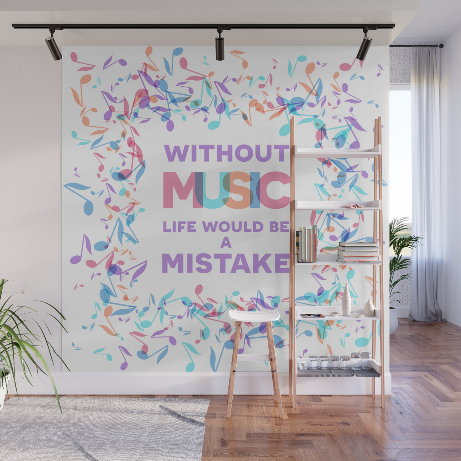 Inspirational Music Quotes 05 Wall Mural By Slanapotam Society6