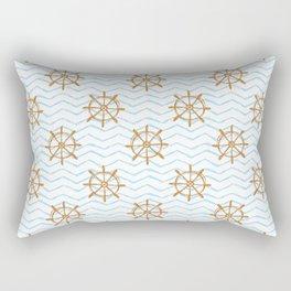 Wheels and waves Rectangular Pillow