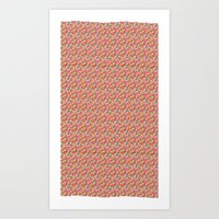 Color Blocks Pattern Art Print