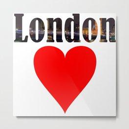 London UK England gift trip Metal Print