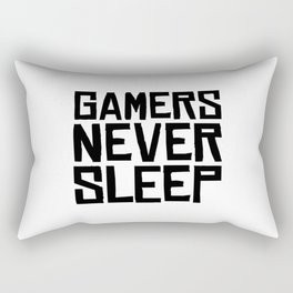 Gamer never sleep Rectangular Pillow