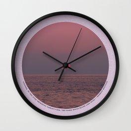Warm Waves Wall Clock