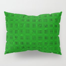 Square pastel curved stripes with imitation of the bark of a green tree trunk. Pillow Sham