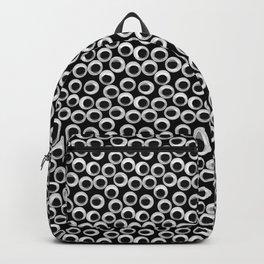 Googly eye pattern – black Backpack