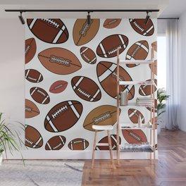 Footballs Wall Mural