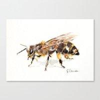 bee Canvas Prints featuring Bee by Elena Sandovici
