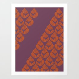 Orange Drops Art Print