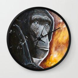 Chimpanzee - Wisdom - by LiliFlore Wall Clock