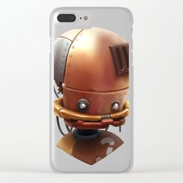 The wierd cute steampunk robot Clear iPhone Case