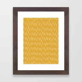Raindrop Abstract Boho Pattern, Yellow Framed Art Print