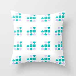 Playing the Poker of Love Throw Pillow