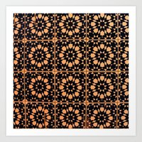 arabic Art Prints featuring Arabic Tiles by Barbo's Art
