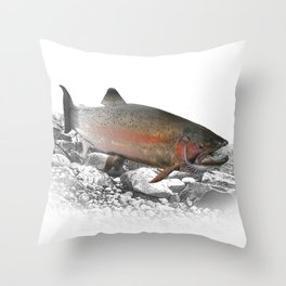 Migrating Steelhead Trout Throw Pillow