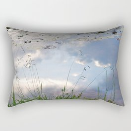 Reflections in a lake Rectangular Pillow