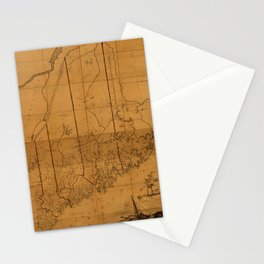 Map of Maine 1802 Stationery Cards