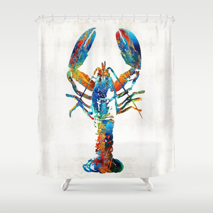 Colorful Lobster Art By Sharon Cummings Shower Curtain