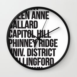 SEATTLE CITIES Wall Clock