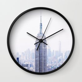 New York City - Manhattan Cityscape - Empire State Building Photograph Wall Clock
