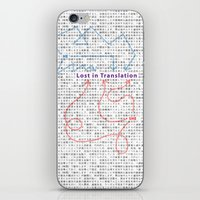 lost in translation iPhone & iPod Skins featuring Lost in Translation by Zuno