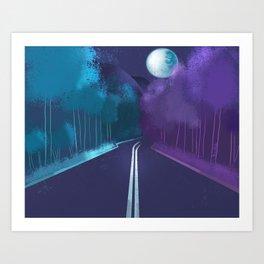 Night scene Art Print