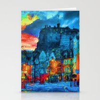 edinburgh Stationery Cards featuring Edinburgh Evening by E.M. Shafer