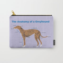 The Anatomy of a Greyhound- Red Brindle Carry-All Pouch