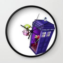 Zim Has the Blue Box Wall Clock
