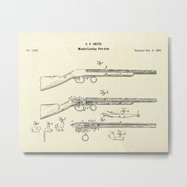 Muzzle-Loading Fire-arm-1839 Metal Print