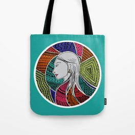 Geometric Girl Tote Bag