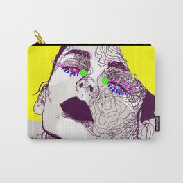 Purple woman Carry-All Pouch