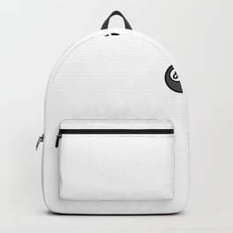 Billiard less luck more skill Backpack