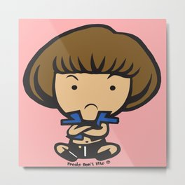 Chibi Love Metal Print