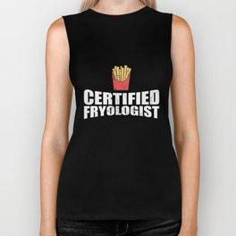 Certified Fryologist French Fries T-Shirt Biker Tank
