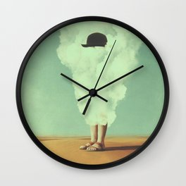 Magritte's Bowler Hat Wall Clock