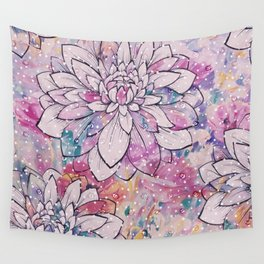 Flower Puddles Wall Tapestry