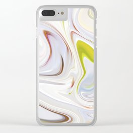 Creamy Twists Clear iPhone Case