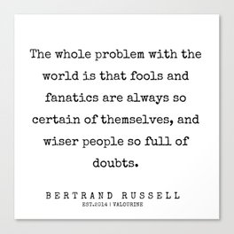 61     Bertrand Russell Quotes   200204 Canvas Print
