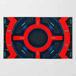 Abstraction of decorative modern clock. 3D illustration. Rug