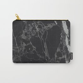 Black V Marble Carry-All Pouch