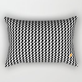 Orange: Black And White Pattern Rectangular Pillow