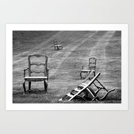 Dining Room Chairs Art Print