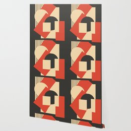 Geometrical abstract art deco mash-up Wallpaper