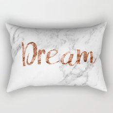 Rose gold marble dream Rectangular Pillow