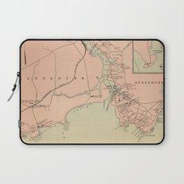 Vintage Kennebunkport & Cape Arundel ME Map (1894) Laptop Sleeve