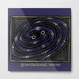 Gravitational Waves Metal Print
