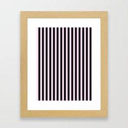 Pink Lace Pink and Black Vertical Stripes Framed Art Print