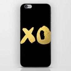 XO black iPhone & iPod Skin