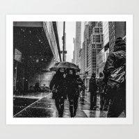Snow Day NYC Art Print