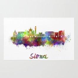 Siena skyline in watercolor Rug